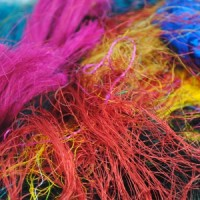 Loose Sari Silk Fibres – Multi colour – 20g