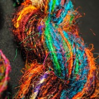 Recycled Sari Silk – Aran – Multicolour – 100g